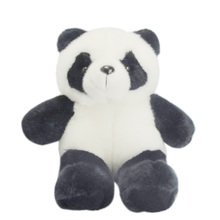 customized 2018 oem panda organic cotton stuffed plush toy kids