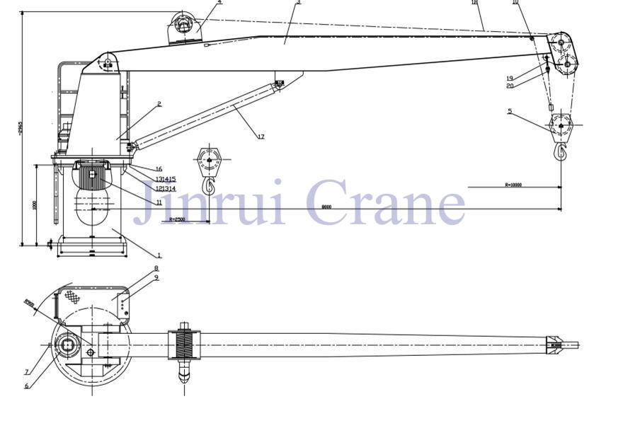 Reasonable Structure Telescopic Boom Crawler Crane