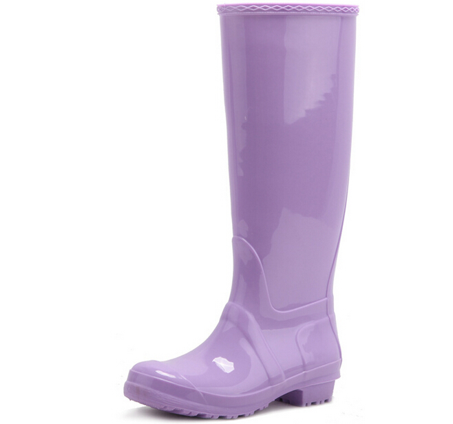 Wholesale fashion candy pvc rain boot gumboot wellies for women