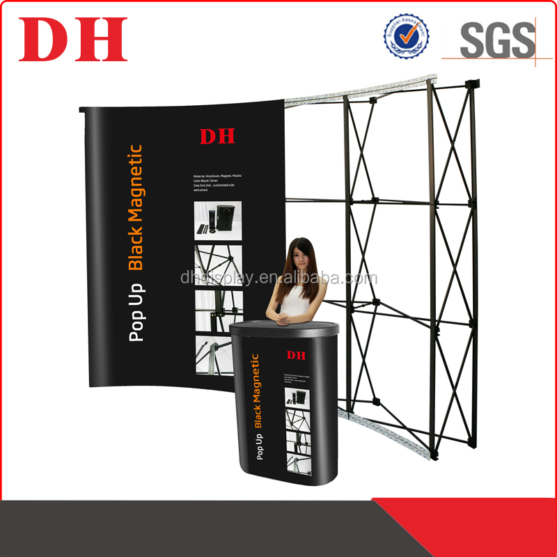 magnetic cardboard fabric pop up display banner stand