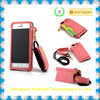 Ultra thin phone case for Apple iphone 5 with lanyard , bracket and card slot