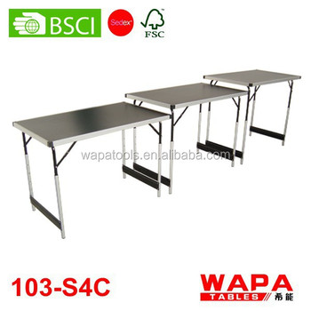 1m x3pcs height adjustable folding wallpaper table