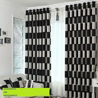 Black and White Patterned Curtain Plain and Classical Style Curtains Blackout Fabric for Curtain Fabric /Window Design