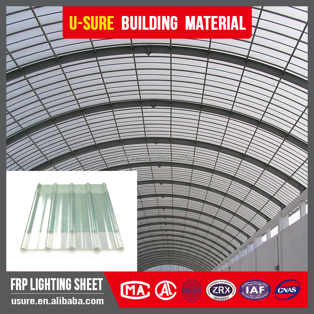 Fiberglass reinforced flexible transparent corrugated for Flexible roofing material