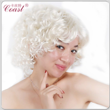 QY-9155 short curly high quality synthetic Marilyn Monroe wig