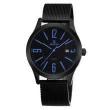 SKONE Newest IP Woven Stainless Steel Band Man Sport Watches