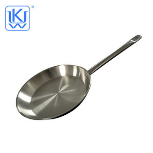 UKW Kitchenwares stainless steel shinning frying pan for restaurant