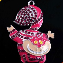 RP-035 Crystal Rhinestone Chunky Pendant Charms for Kids Necklace Bubblegum Jewelry 50x38mm