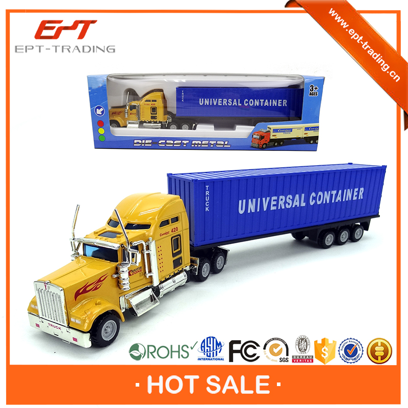 Hot sale kids diecast metal container truck model for sale