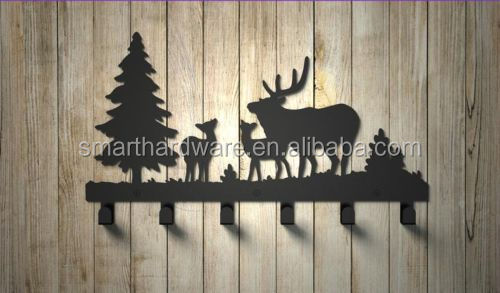 Moose decorative metal coat hook Wall mounted coat rack