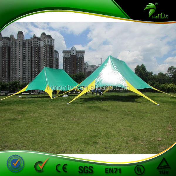 Double Peaks Star Party Tent , New Degisn Double Star Shaped Gazebo With Excellent Quality