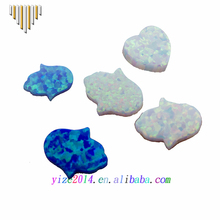 Wholesale Price AAA Synthetic Jewelry Loose Stone 11x13mm Hamsa Hand White Opal