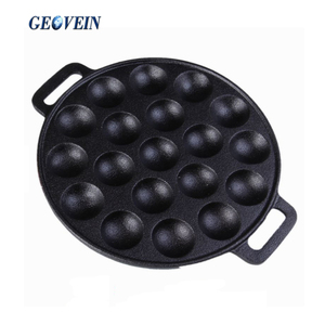 Cast Iron 19 Holes Takoyaki Octopus Grill Tray Mold Pan
