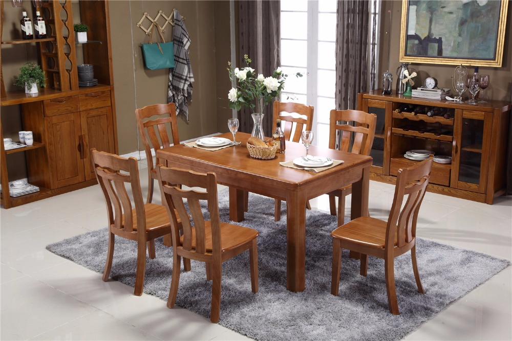 The chinese antique style teak customized solid wood dining table