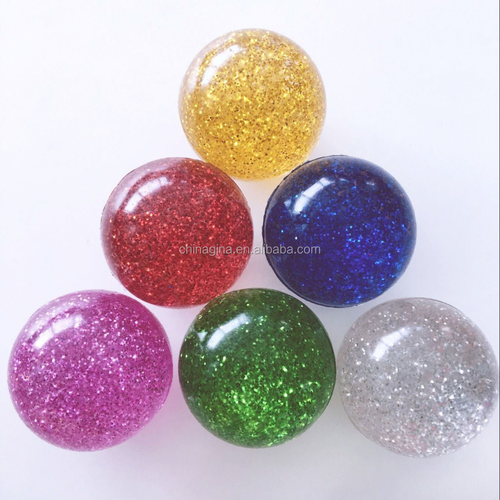32mm super glitter rubber high bouncing ball