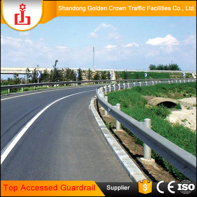 Top Accessed Guardrail Supplier / Anti-collision gate barrier guard rail price highway guard rail for sale