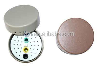 Aluminium dental burs holder/autoclave sterilization box/ dental bur box