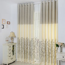 Bay window design jacquard curtains for living room