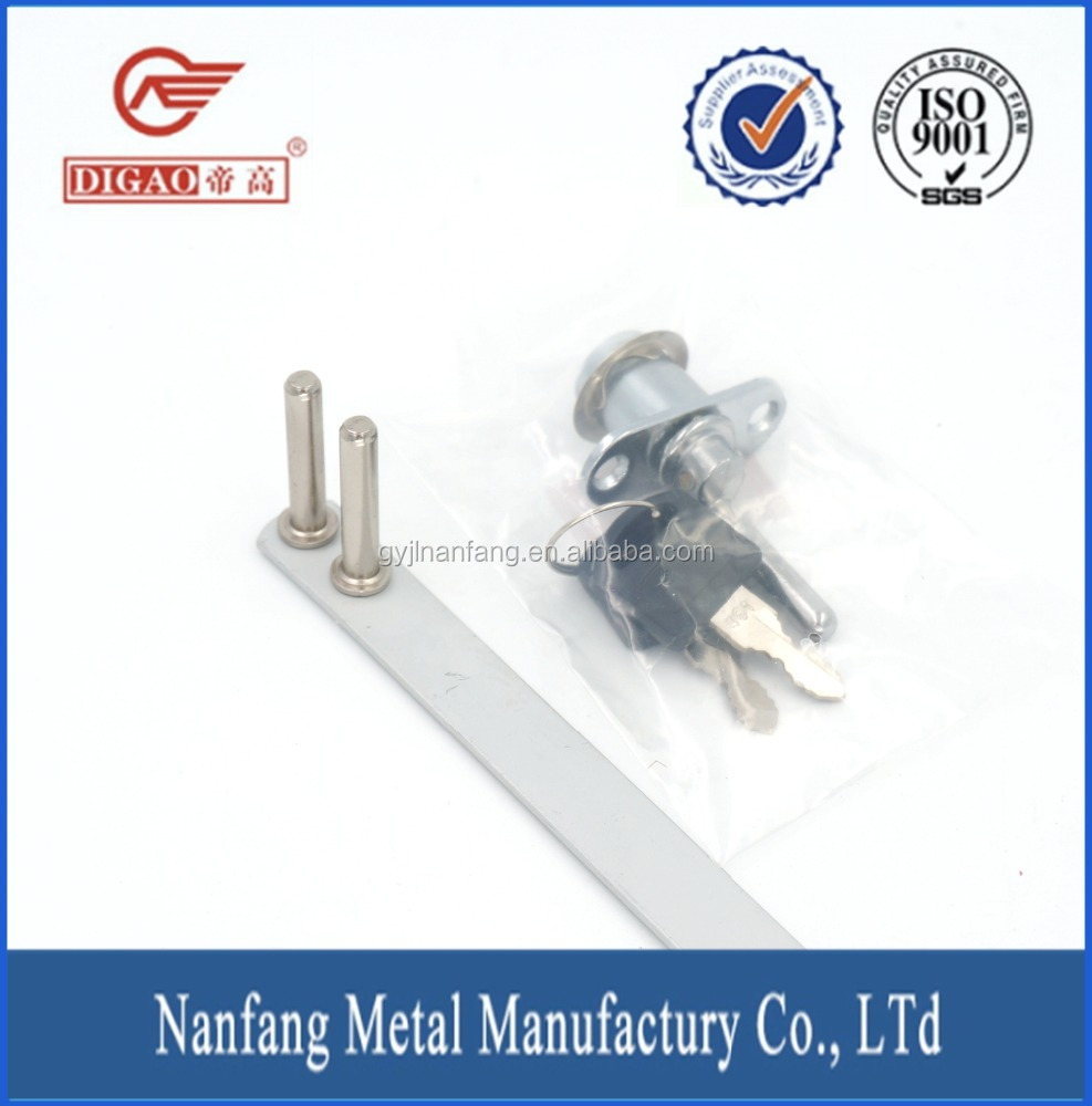 Furniture small fittings chrome plated automatic drawer lock