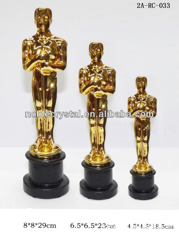 custom design oscar award resin trophy