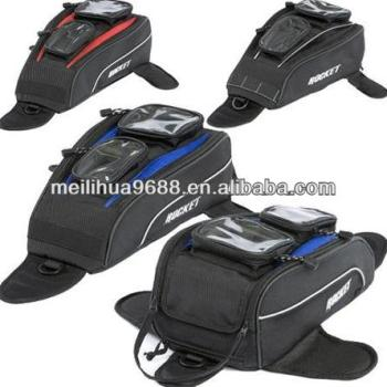 Rubber mesh-skin backing for non-slip grip Motorcycle Tank Bag