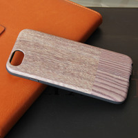 New design iml technology tpu mobile wooden case for iphone