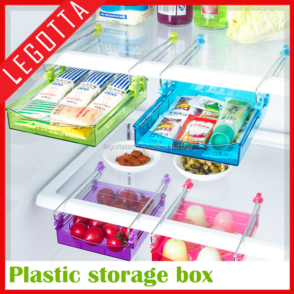 2016 new hot most popular wholesale plastic drawer type refrigerator storage box
