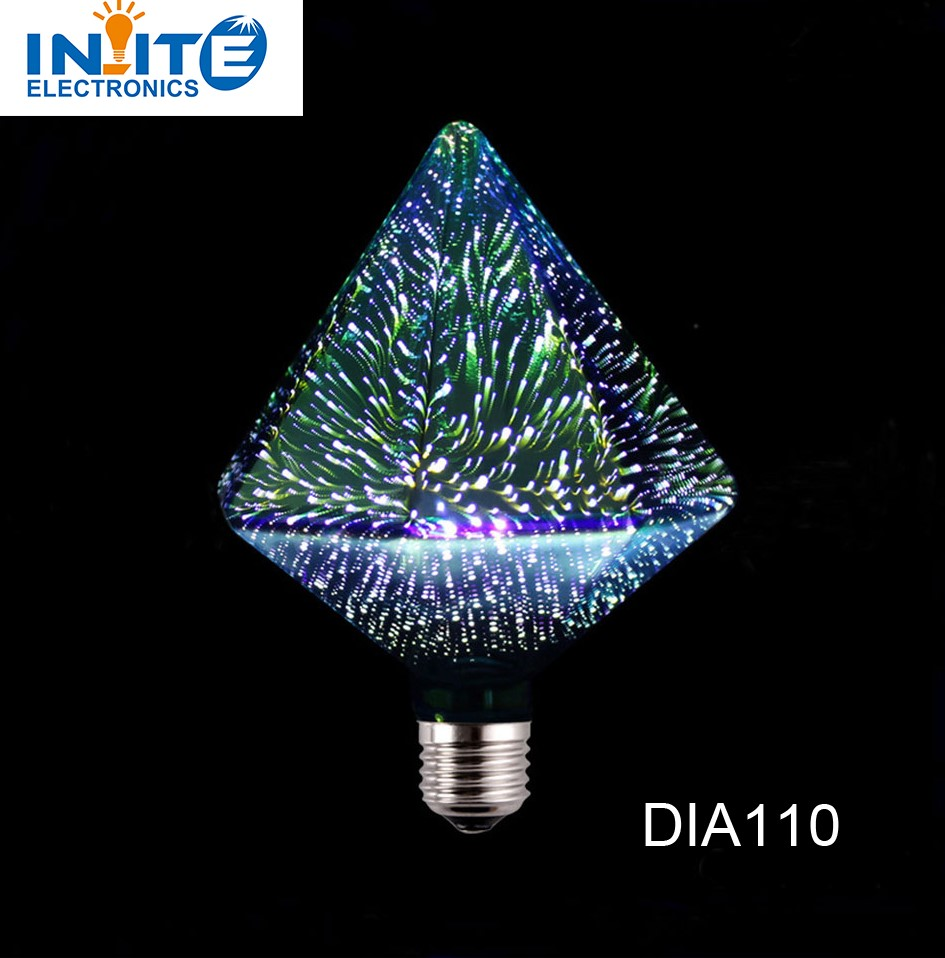 Diamond 3D led lamp 110v 220v lamparas e27 4W holiday lights for christmas home party decoration lampe
