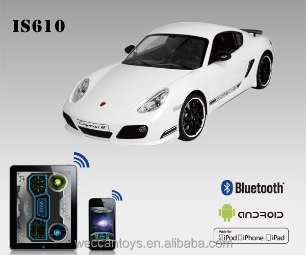 brand car bluetooth 1 16 Porsche Cayman android control mini rc car