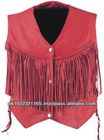 Ladies Braided Vest With Fringes