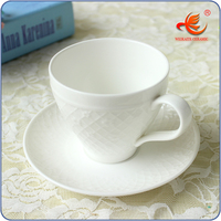 WKT008W 220ml different types of white porcelain coffee cup