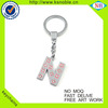 High quality letter keyring keychain