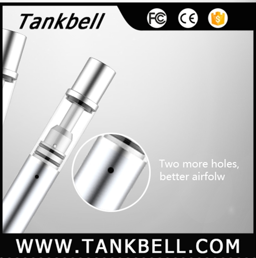 Tankbell silver slim .25ml .5ml cbd oil tank ceramic cbd cartridge wholesale empty disposable electronic cigarette