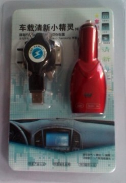 Wholesaler Car air purifier with DC12V 1.2W