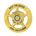 Custom Gold Round Goverment Metal Sheriff Badges