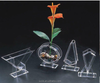 transparent acrylic customized diferent shape mini desktop fish tank wholesale