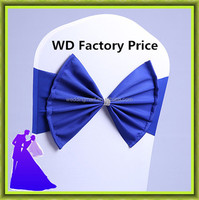 Factory Price !! 100pcs Product Decorative Chair Covers Chair Cover Bow For Wedding