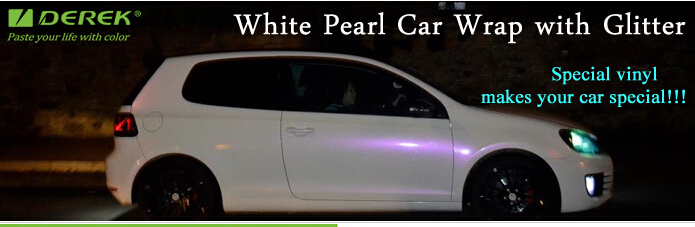 Satin Pearl White Red Color Changing Car Wrapping Vinyl Film