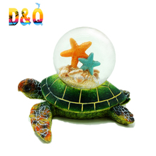 Custom resin turtle snow globe souvenir snow globe manufacturers
