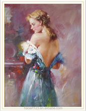 Chinese Imports Wholesale Beautiful Girls Photos Oil painting Art Gallery On Canvas