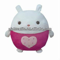 white head sweet stuffed plush rabbit toy with ball shape