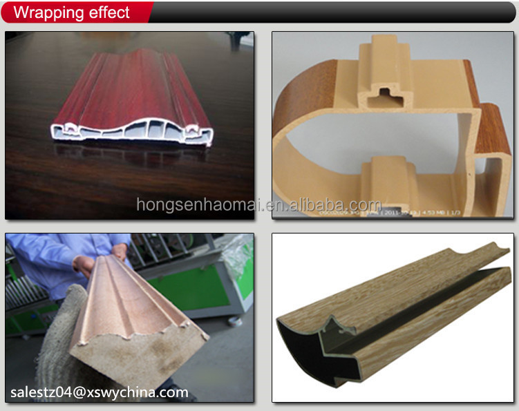Hot glue Edge frame profile wrapping veneer machine
