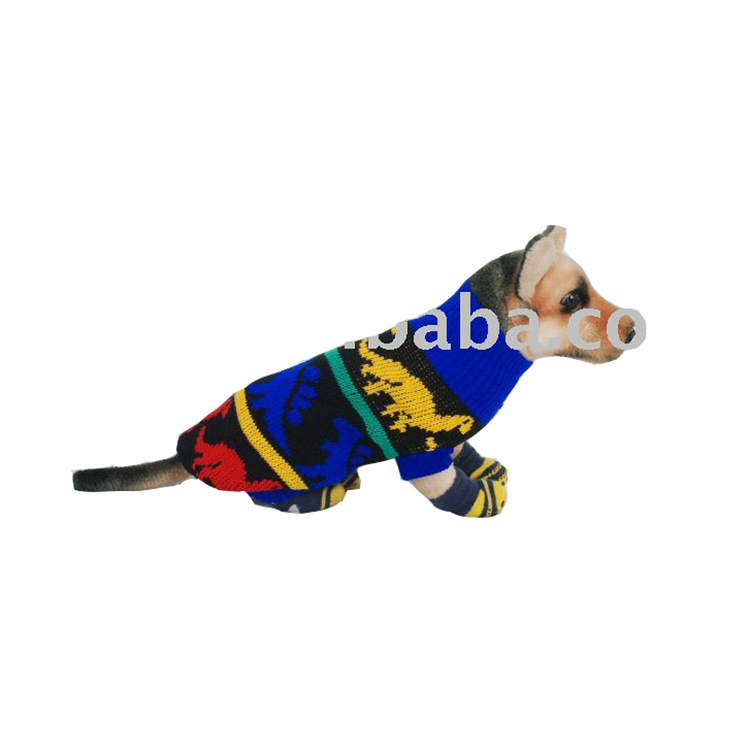 Factory custom design pet accessory winter dog knit sweater / clothes/dress