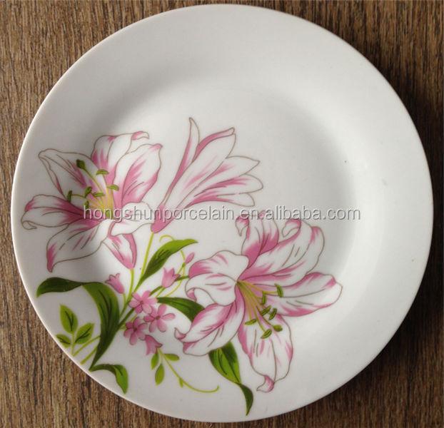 bulk dinner plates hecho en china china dinner plate wholesale enamel plates - China Dinner Plates