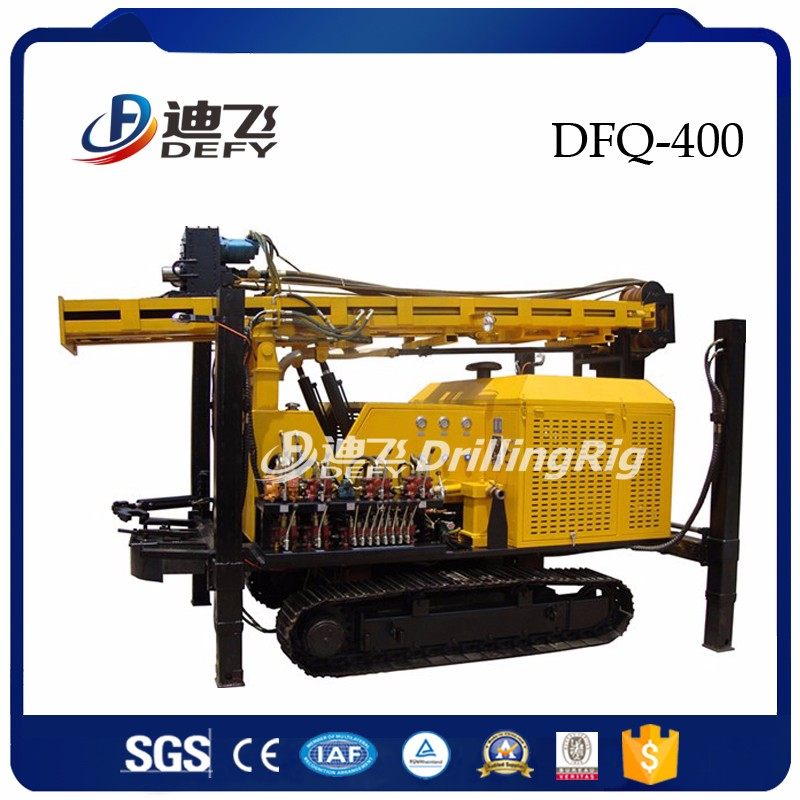 400m DFQ-400 DTH Water Well Crawler Mounted Drilling Rig