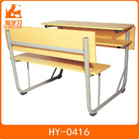 cheap single wood school desk and chair