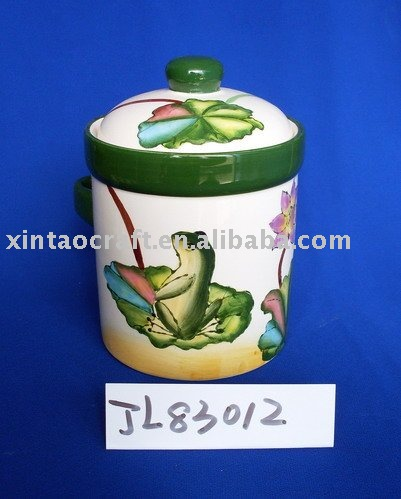 Handcrafted Porcelain Storage Jar with Lid for Sugar/Coffee