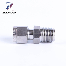 Stainless steel compression fittings external thread hydraulic pipe fittings