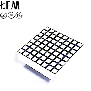 KEM-12288-BW common anode 3 mm square white dot matrix 8x8 led display