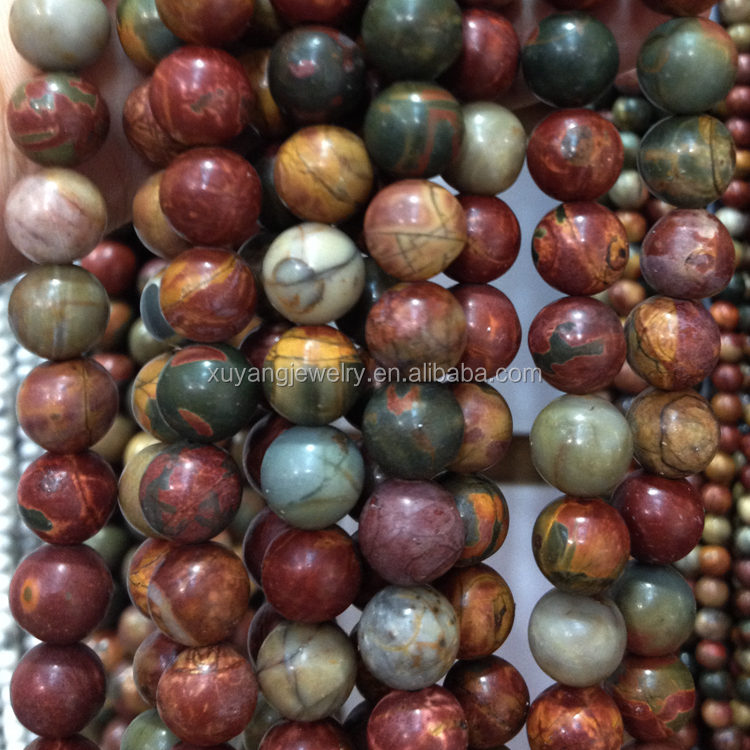 Natural Colorful Picasso Jasper Round Gemstone Loose Beads 4mm 6mm 8mm 10mm 12mm (AB1556)